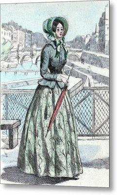 1846, Womens Fashion In Nineteenth-century Paris Metal Print by Artokoloro