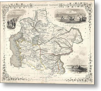 1851 Asia Map Metal Print