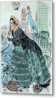 1859, Womens Fashion In Nineteenth-century Paris Metal Print by Artokoloro