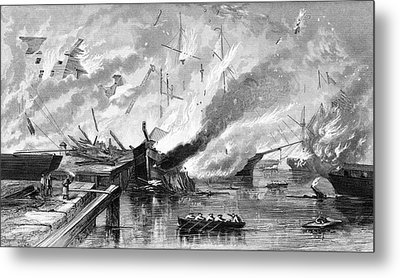 1860s 1862 Destruction Of Gosport Navy Metal Print