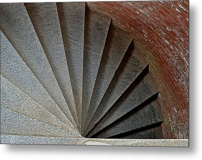 1861 Fort Point Tower Stairs San Francisco Bay Metal Print by Bill Owen