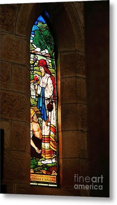 1865 - St. Jude's Church  - Stained Glass Window Metal Print by Kaye Menner