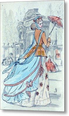 1868, Womens Fashion In Nineteenth-century Paris Metal Print by Artokoloro