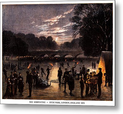 1870 The Serpentine Of London England Metal Print by Historic Image