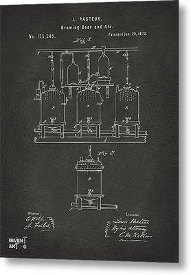 1873 Brewing Beer And Ale Patent Artwork - Gray Metal Print