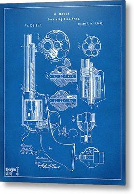 1875 Colt Peacemaker Revolver Patent Blueprint Metal Print