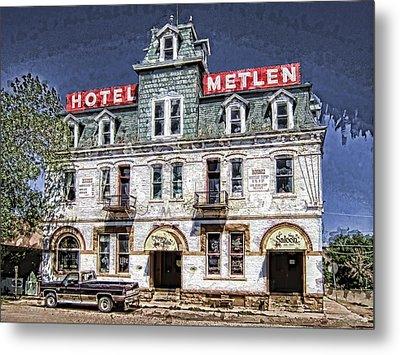 1875 Metlen Railroad Hotel - Dillon Montana Metal Print