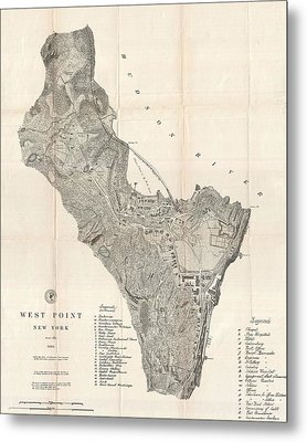 1883 West Point Map Metal Print by Dan Sproul