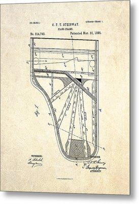 1885 Steinway Piano Frame Patent Art Metal Print