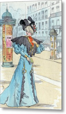 1892, Womens Fashion In Nineteenth-century Paris Metal Print by Artokoloro