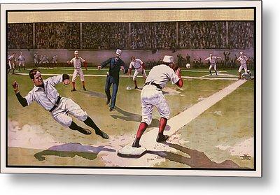 1898 Baseball -  American Pastime  Metal Print