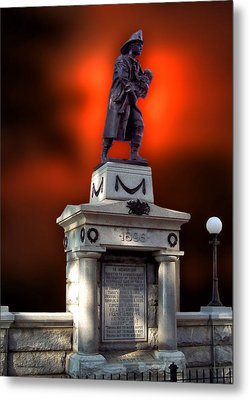 1898 Firemen Memorial St Joes Michigan Metal Print by Thomas Woolworth