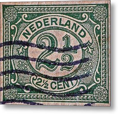 1899 Netherlands Stamp Metal Print