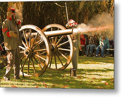 Cival War Reenactment At The Shadows On The Teche New Iberia Louisiana Metal Print by Ronald Olivier