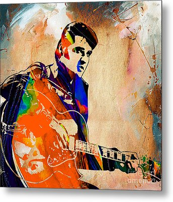 Elvis Presley Collection Metal Print by Marvin Blaine