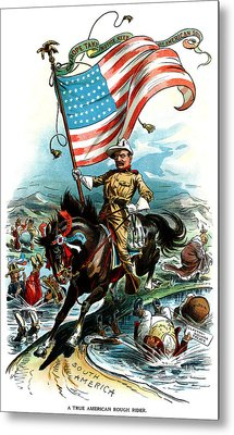 1902 Rough Rider Teddy Roosevelt Metal Print by Historic Image