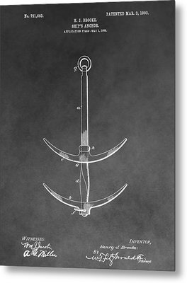 1903 Ship's Anchor Metal Print