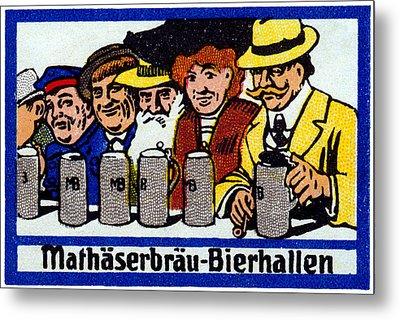 1905 Berlin Beer Hall Metal Print by Historic Image