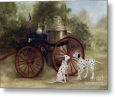 1905 Firehouse Dogs Metal Print by Stella Violano