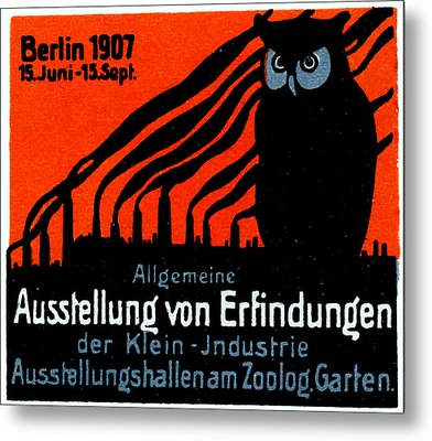 1907 Berlin Exposition Poster Metal Print by Historic Image