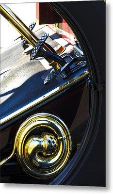 1907 Panhard Et Levassor Demi Toneau 38 Hp Horn Metal Print by Jill Reger