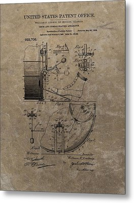 1909 Drum Patent Metal Print