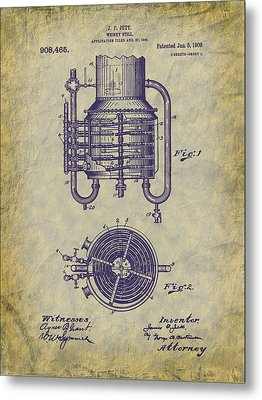 1909 Jett Whiskey Still Patent Metal Print by Barry Jones