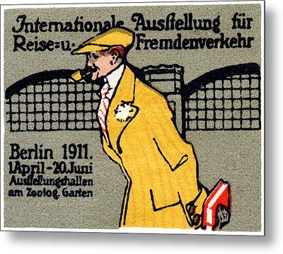 1911 Berlin International Travel Expo Metal Print by Historic Image