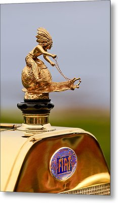1911 Fiat Tipo 6 Holbrook 4 Passenger Demi-tonneau Hood Ornament Metal Print by Jill Reger