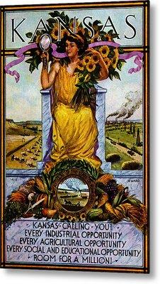 1911 Kansas Poster Metal Print by Historic Image