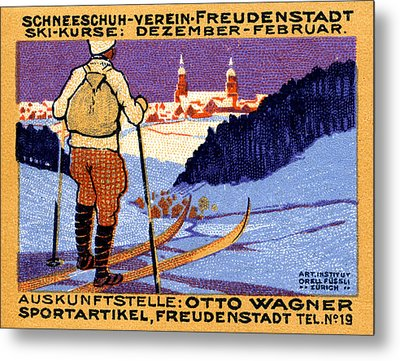 1911 Swiss Ski School Poster Metal Print by Historic Image