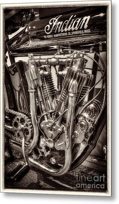 1912 Indian Twin Metal Print by Paul W Faust -  Impressions of Light