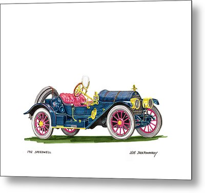 1912 Speedwell Speed Car Metal Print