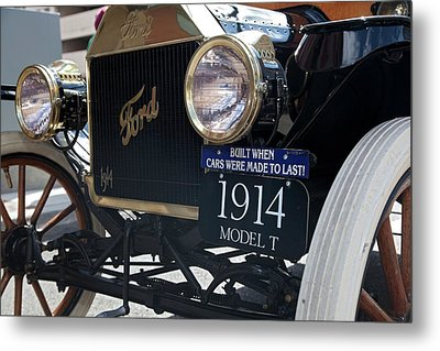 1914 Ford Model T Metal Print by Jim West