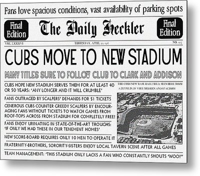 1916 Cubs Retro Cover From The Heckler Metal Print