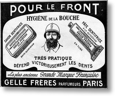 1916 Toothpaste Advert Metal Print