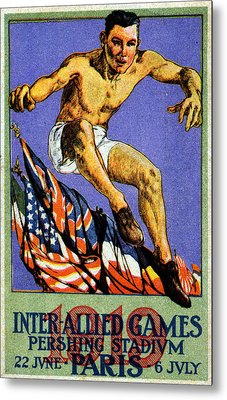 1919 Allied Games Poster Metal Print by Historic Image