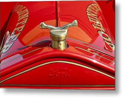 1919 Ford Volunteer Fire Truck Metal Print