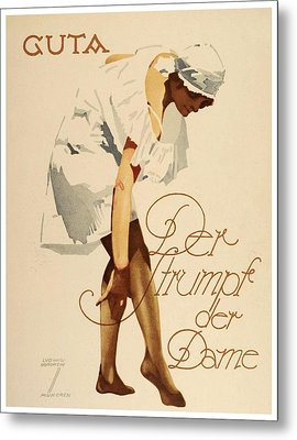 1920 - Guta Stockings Advertisement - Ludwig Hohlwein - Color Metal Print