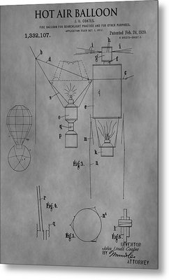 1920 Hot Air Balloon Metal Print by Dan Sproul