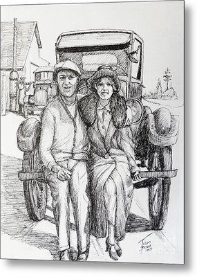 1920s Couple Metal Print