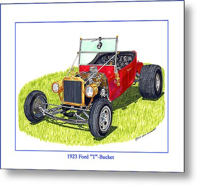 T Bucket Ford 1923 Metal Print