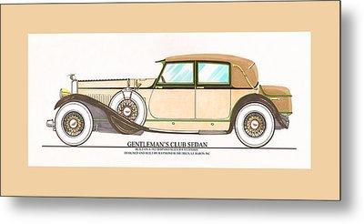 1923 Hispano Suiza Club Sedan By R.h.dietrich Metal Print by Jack Pumphrey