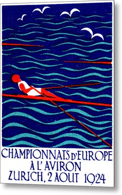 1924 Zurich Rowing Poster Metal Print by Historic Image