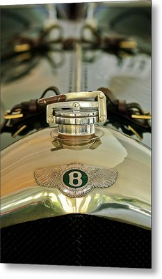 1925 Bentley 3-liter 100mph Supersports Brooklands Two-seater Radiator Cap Metal Print by Jill Reger