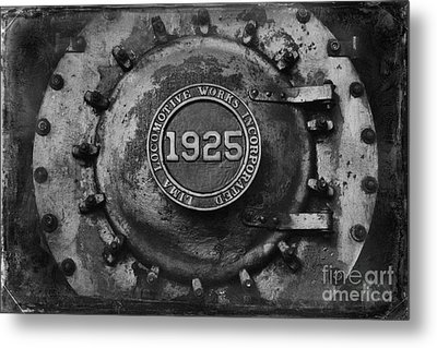 1925 Locomotive Train Engine Metal Print by Carrie Cranwill