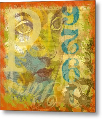 Metal Print featuring the digital art 1926 by Lisa Noneman