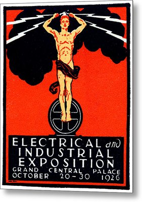 1926 New York City Electrical Industrial Exposition Metal Print by Historic Image