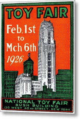 1926 New York City Toy Fair Poster Metal Print by Historic Image