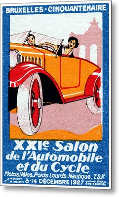 1927 Brussels Automotive Show Metal Print by Historic Image